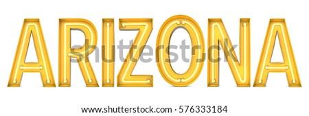arizona   american state word...