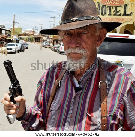 Arizona cowboy portrait. June 2015. Illustrative editorial use only  #648462742