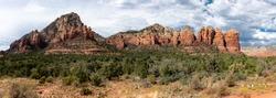 Arizona desert mountain landscape panorama