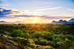 Arizona Desert Sunrise off of Loop 303 in North Phoenix