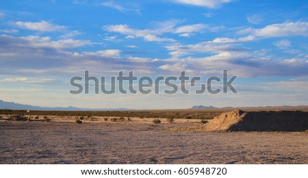 Arizona desert with blue sky, USA #605948720