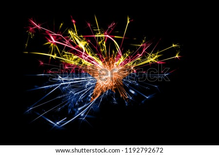 Arizona fireworks sparkling flag. New Year 2019 and Christmas party concept