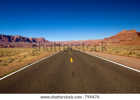 Arizona lonely road