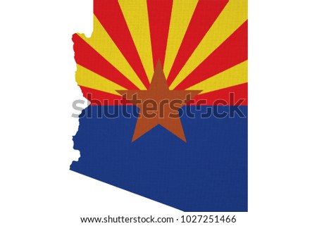 arizona map usa with national...
