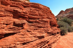 Arizona red sandstone with striations