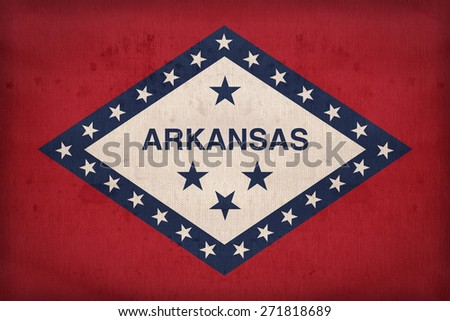 arkansas flag on fabric texture ...