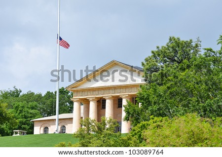 "Arlington House or ""Custis-Lee Mansion"" in Arlington Cemetery near to Washington DC"