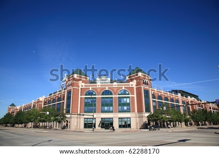 ARLINGTON, TEXAS - SEPTEMBER 28: The Ballpark in Arlington, home of the Texas Rangers, on September 28, 2010 in Arlington, Texas. The Rangers enter the baseball playoffs as winners of their division.