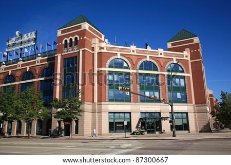 ARLINGTON, TEXAS - SEPTEMBER 28: The Ballpark in Arlington, home of the Texas Rangers, on September 28, 2010 in Arlington, Texas. The park opened in 1994 at a cost of $191 million.