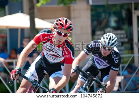 ARLINGTON, VIRGINIA - JUNE 9: Cyclists compete in the U.S. Air Force Cycling Classic on June 9, 2012 in Arlington, Virginia