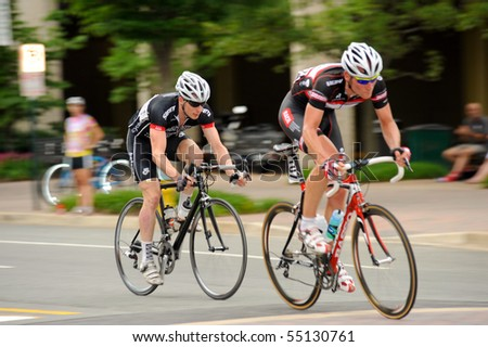 ARLINGTON, VIRGINIA - JUNE 13: Cyclists compete in the U.S. Air Force Cycling Classic on June 13, 2010 in Arlington, Virginia