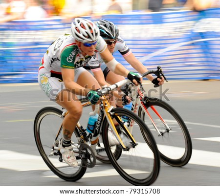 ARLINGTON, VIRGINIA - JUNE 11: Unidentified cyclists compete in the U.S. Air Force Cycling Classic on June 11, 2011 in Arlington, Virginia