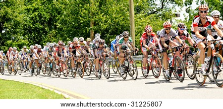 ARLINGTON, VIRGINIA - MAY 30:  Unidentified cyclists compete in the U.S. Air Force Cycling Classic on May 30, 2009 in Arlington, Virginia. #31225807
