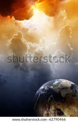 Armageddon background planet Earth in space Global warming climate change mayan apocalypse 2012 Nostradamus armageddon 2012 armageddon bible stop global warming