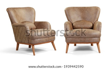 armchair different angles isolated on a white background . Foto stock ©