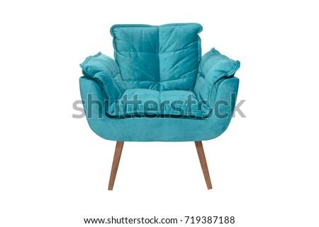 armchair. Modern designer chair on white background. Texture chair. #719387188
