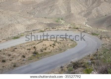 Armenia - mountain route a lot of sand - desert
