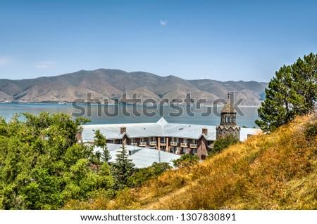 Armenia. Sevan Lake. Vaskenian Theological Academy. Photoshoot from Sevanavank monastery, Sevan island / peninsula.  #1307830891