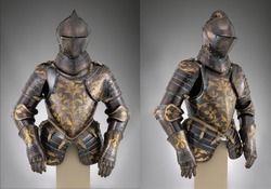 Armor from different angles views, Medieval knight Armor