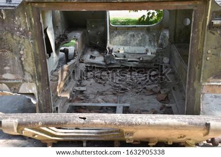 Armored Brigade Troop Transport Wreckage, Vietnam