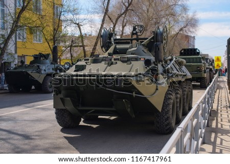 Armored repair and evacuation vehicle, wheeled. #1167417961