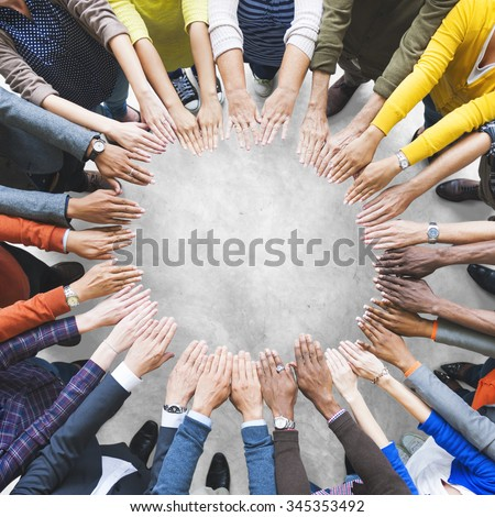 Arms Hands Circle Team Unity Variation Group Diverse Concept