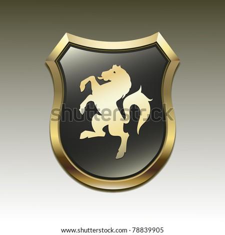 Arms in an horse vector - stock photo