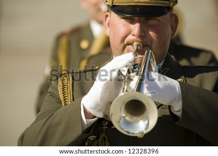 army brass band on Victory Day in Russia, 9 may