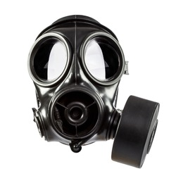 army gas mask isolated on white background
