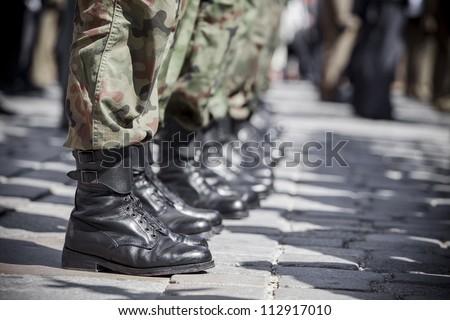 Army parade - boots close-up #112917010