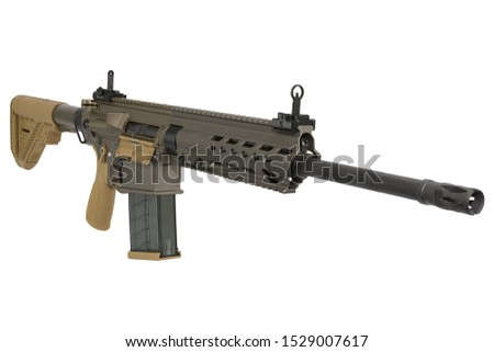 Army semi-automatic weapons are primarily rifles and carbines, and semi-automatic weapons include pistols. German and American models of rifles and pistols can be found in many armies of the world
