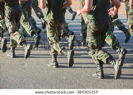 Army soldier running