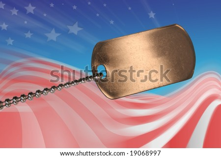 Army soldier tag