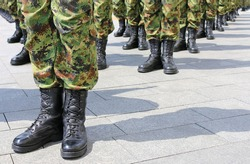 Army - Soldiers standing in line