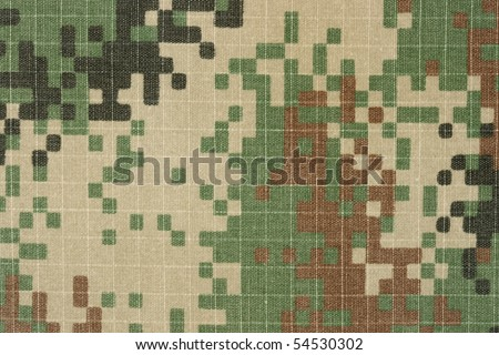 army vintage digital military camuoflage fabric, background digital style pattern, old used fabric
