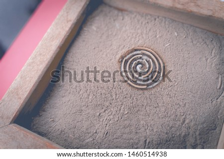 Aroma aroma from incense, fragrance base in the ashes tray. #1460514938