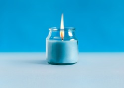 Aroma candles with colorful wax.