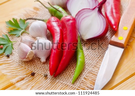 aroma spice and vegetable
