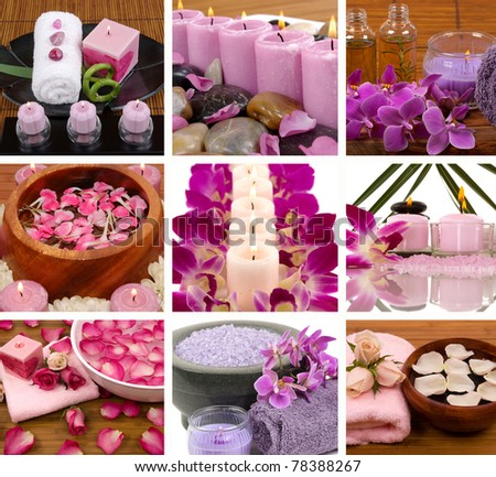 Aromatherapy and spa collage