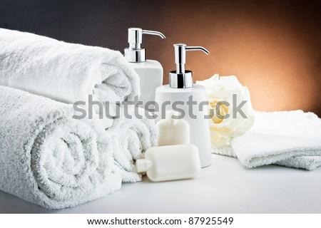 aromatherapy and spa still life - stock photo