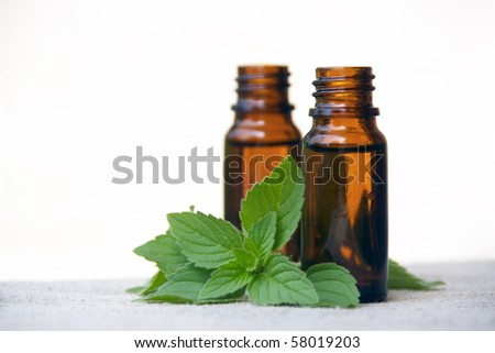 Aromatherapy Aroma Scented Oil in Glass Bottles with Mint