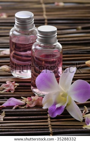 Aromatherapy essentials - stock photo