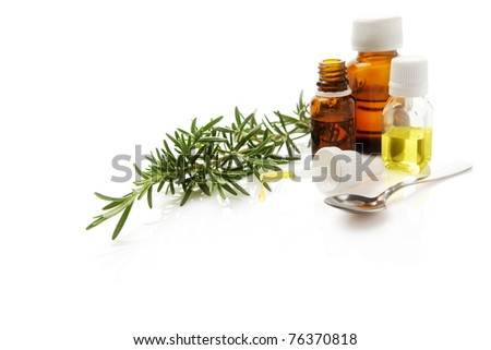Aromatherapy with essential oil of rosemary