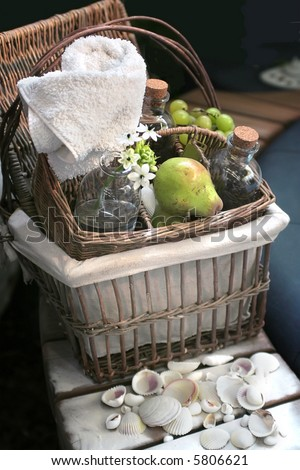 aromatherapy with pear and green oil