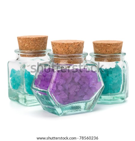 Aromatic natural mineral salt isolated on white background