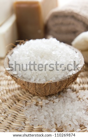 Aromatic spa set with sea salt and soap
