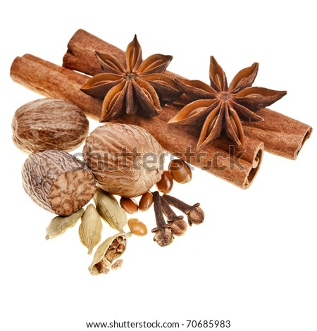 aromatic spice  isolated on white