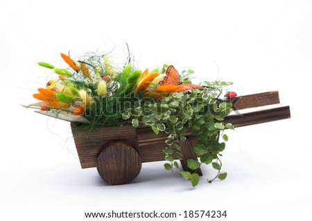 Small Wooden Wheelbarrow