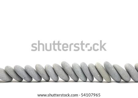 arrangement of flat rocks