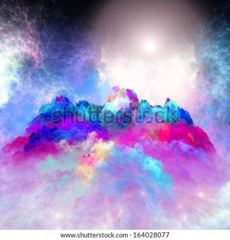 Arrangement of lights, fractal flames and abstract element Arrangement of lights, fractal flames and abstract element